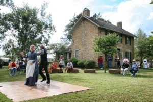 Howe House with dancers