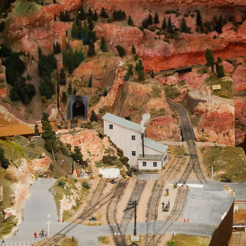 A section of the model railroad at the museum
